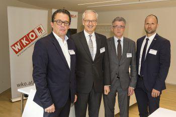 Die WKV-Direktion mit den österreichischen Wirtschaftsdelegierten in Moskau und Peking.Foto: WKV/Mathis