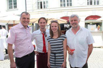Matthias Praeg (Atelier für Uhren und Schmuck), Christopher Füxl (Füxl), Theresa Kalb (Stadtmarketing) und Gerry Rainalter (Buongustaio).