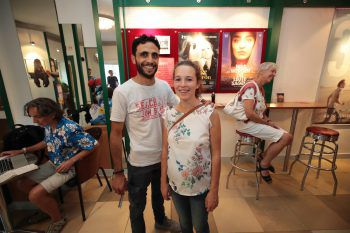 "<p class=""caption"">Aljaratli und Jasmin Mahmoud.</p>"
