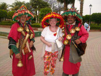 """<p class=""""caption"""">Leopoldine (72) sendet sonnige Urlaubsgrüße aus Marokko.</p>"""