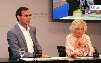 LH Wallner und LR Wiesflecker bei der gestrigen Pressekonferenz. Foto: VLK