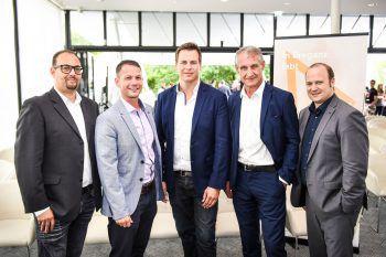 Niklas Keller, GF Robert S. Salant (beide Stadtmarketing Bregenz), Referent Steffen Stäuber, Bgm. Markus Linhart und Marc Isele (Casino Bregenz).