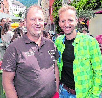 """<p class=""""caption"""">WIGE-Obmann Hanno Fuchs und Andreas Vaschauner.</p>"""