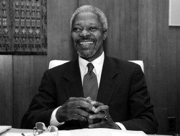 """<p class=""""caption"""">Der Friedensnobelpreisträger Kofi Annan war ein Verfechter der Menschenrechte. Er starb gestern im Kreise seiner Familie. Foto: Reuters</p>"""