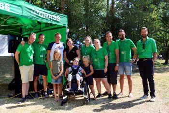 Die Charity-Aktion bei der Wolfurttrophy war ein voller Erfolg. Foto: handout/Grass
