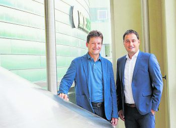 Die Geschäftsführer Heinz Huber und Thomas Pachole. Foto: handout/mohrenbrauerei