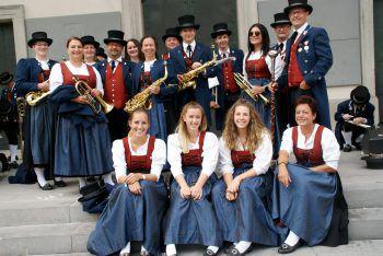 Die Stadtkapelle Haselstauden sorgte für den passenden musikalischen Rahmen.
