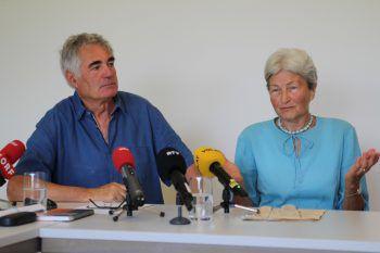 Franz Ströhle und Hildegard Breiner bei der gestrigen Pressekonferenz.  Foto: Rauch