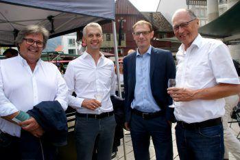 """<p class=""""caption"""">Fritz Schenk, Herbert Kaufmann, Egon Gunz und Martin Ruepp. Fotos: Andrea Pezold</p>"""