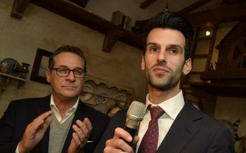 Heinz-Christian Strache wüsncht sich Udo Landbauer als Klubobmann.  Foto: APA