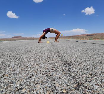 "<p class=""caption"">Jasmin bei ihrem Roadtrip durch Amerika im Juli.</p><p class=""caption"" />"