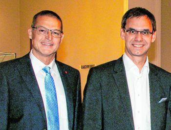 Landesrat Christian Bernhard und LH Markus Wallner. Foto: W&W