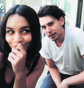 Verliebt: Vanessa Hudgens zeigt sich mit ihrem Freund Austin Butler von ihrer verspielten Seite.