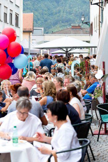 Volle Gassen in der Bludenzer Altstadt! Fotos: Mathis Fotografie (handout: Stadt Bludenz), Franz Lutz