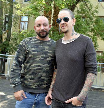 """<p>Wien. Unterwegs: Seiler & Speer bei der Pressekonferenz des """"Red Bull Music Soundclash"""".</p>"""