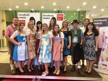 Die Models präsentierten auf der Famos Modenschau die neuesten Trachten-Trends. Fotos: Franz Lutz