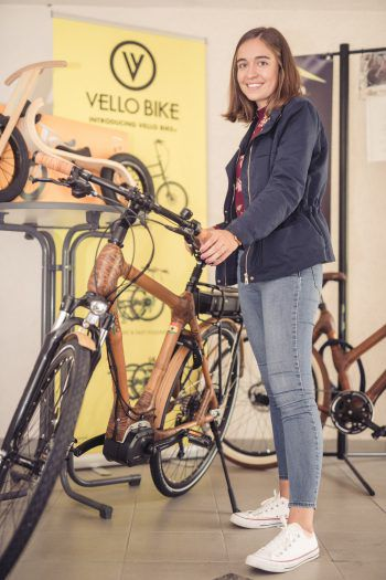 """<p class=""""caption"""">In der ebike-factory gibt es die einzigartigen my-Boo Bambus Fahrräder.</p>"""