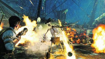 """In """"Strange Brigade"""" fliegen die Fetzen bzw. die Knochen.Screenshot: Rebellion"""