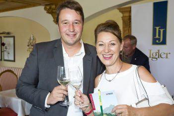 """<p class=""""caption"""">Markus Pfanner (Pfanner & Gutmann) und Daniela Berthold (Wirtshaus am See).</p>"""