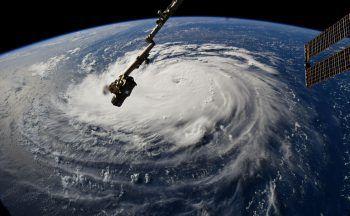 <p>Weltall. Zerstörerisch: Dieses Bild von Hurricane Florence wurde auf der ISS aufgenommen.</p>