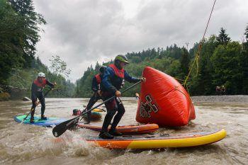 """<p class=""""caption"""">Wildwasser Cross-Action auf der Bregenzer Ache.</p>"""