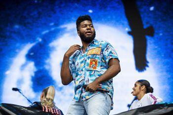 <p>Austin. Stimmgewaltig: Sänger Khalid performt auf dem Austin City Limits Music Festival in Texas.</p>