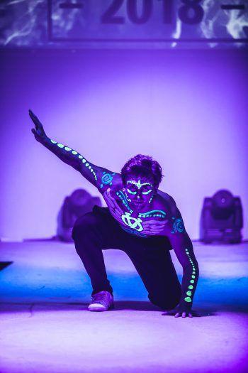 David überzeugte die Jury mit einem Freestyledance mit Breakdanceelementen und spektakulärer Körperbemalung.