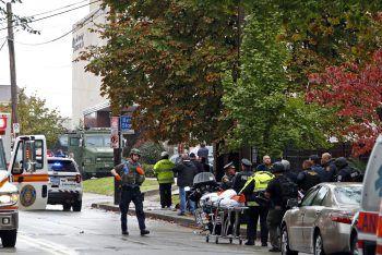 """<p class=""""caption"""">Die Gewaltat in Pittsburgh forderte mehrere Todesopfer und verletzte Polizisten forderte Fotos: AP</p>"""