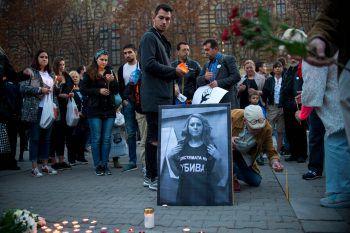Die TV-Journalistin Wiktoria Marinowa wurde am Samstag tot aufgefunden.Foto: AFP