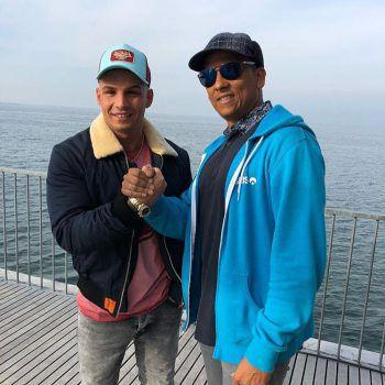 Pietro Lombardi und Xavier Naidoo am Bodensee.
