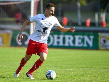 Florian Prirsch besorgte mit einem Weitschuss das 2:0 für Dornbirn.Foto: Lerch