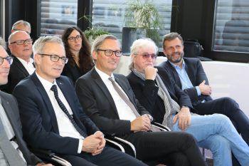 "<p class=""caption"">Helmut Winkler, Gerhard Hamel, Reinhold Bilgeri und Herbert Loos.</p>"