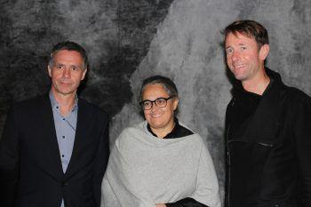 "<p class=""caption"">KUB-Direktor Thomas D. Trummer, Künstlerin Tacita Dean und Olaf Schmitt.</p>"