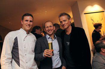 Küchenchef Dominic Mayer, Kurt Michelini (Frastanzer) und Gastronom Reinhard Rauch.