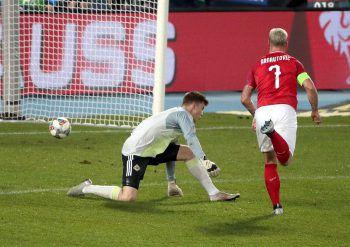 Marco Arnautovic erzielte am Freitag den 1:0-Siegtreffer für Österreich.Foto: GEPA