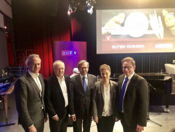 Martin Ohneberg, Peter Boudgoust, Alexander Wrabetz, Ladina Heimgartner und Markus Klement.Fotos: Franz Lutz