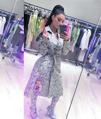 """<p>""""Million Dollar Babe"""": Kim Kardashian in Spezial-Outfit.</p>"""
