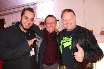 "<p class=""caption"">Rapper ""Samt"" mit Joachim Mangard und Günter Palaoro.</p>"