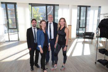 "<p class=""caption"">Stefan Vith, Nicole Schwendiger, Thomas Gstöhl (Sparkasse) und Lisa Nirsberger (Antelope).</p>"