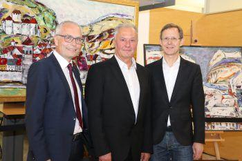 """<p class=""""caption"""">Anton Steinberger, Willi Bröll und Hannes Schneeberger.</p>"""