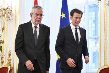 Bundespräsident Alexander Van der Bellen und Kanzler Sebastian Kurz. Foto: APA