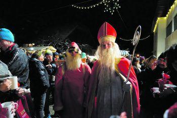 Der Besuch des Nikolaus ist der Höhepunkt für die Kinder.