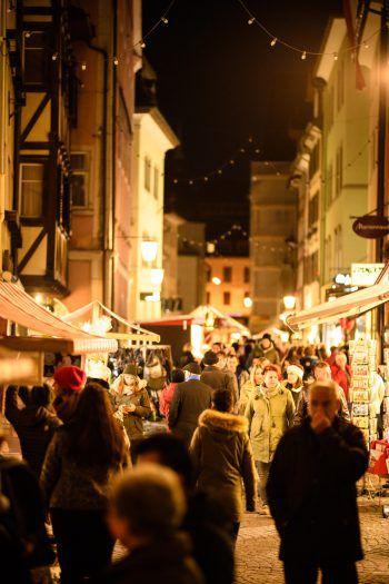 Der Weihnachtsmarkt in der Innenstadt ist jedes Jahr ein Highlight für Jung und Alt. Fotos: handout/Matthias Rhomberg