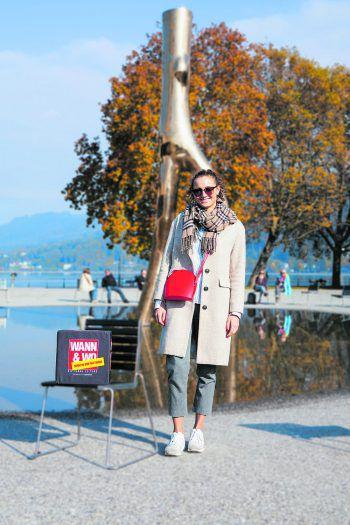 Die 21-Jährige Studentin Aline kombiniert am liebsten schlichte Kleidungsstücke zu auffallenden Accessoires.Fotos: handout/Drexel