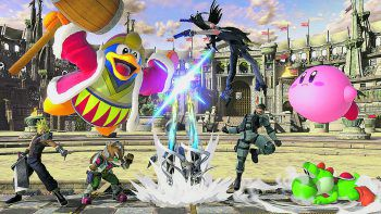 """Erste Screenshots von """"Super Smash Bros. Ultimate"""" lassen erahnen, wie umfangreich und spektakulär das Game sein wird.Foto: Nintendo"""