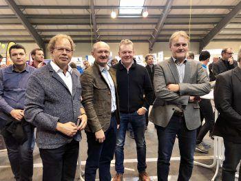 """<p class=""""caption"""">Florian Kasseroler, Joachim Weixlbaumer, Christof Bitschi, Georg Bucher. Fotos: Franz Lutz</p>"""