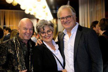 """<p class=""""caption"""">Heinz Wendel mit Susanne und Peter Scharax.</p>"""