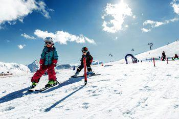 Im Skigebiet Golm erlebt die ganze Familie einen super Skitag. Foto: handout/Golm