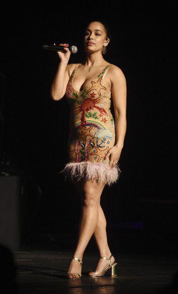 Los Angeles. Sexy: Sängerin Jorja Smith aus Großbritannien bei ihrer Show in Kalifornien.