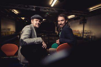 Lucas Bitschnau und Pete Ionian in ihrer neuen Wirkungsstätte in der Kammgarn. Fotos: Sams